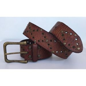 Fossil studded leather belt